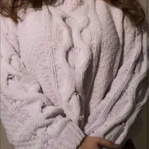 Sweaters - Garage Pink Cable Knit Style Sweater